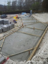 4th April 2nd pour of slab completed Sky House Sussex
